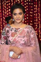 Keerthi Suresh Looks super cute in Designer Anarkali Dress at Zee Telugu Apsara Awards 2017 04.JPG