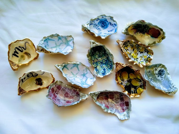 Oyster shell _ Ostriche decorate