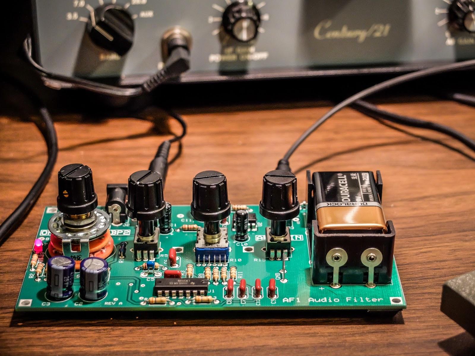 Making use of elecraft mini module kits amateurradio af1 audio filter making crowded band operations pleasurable freerunsca Images