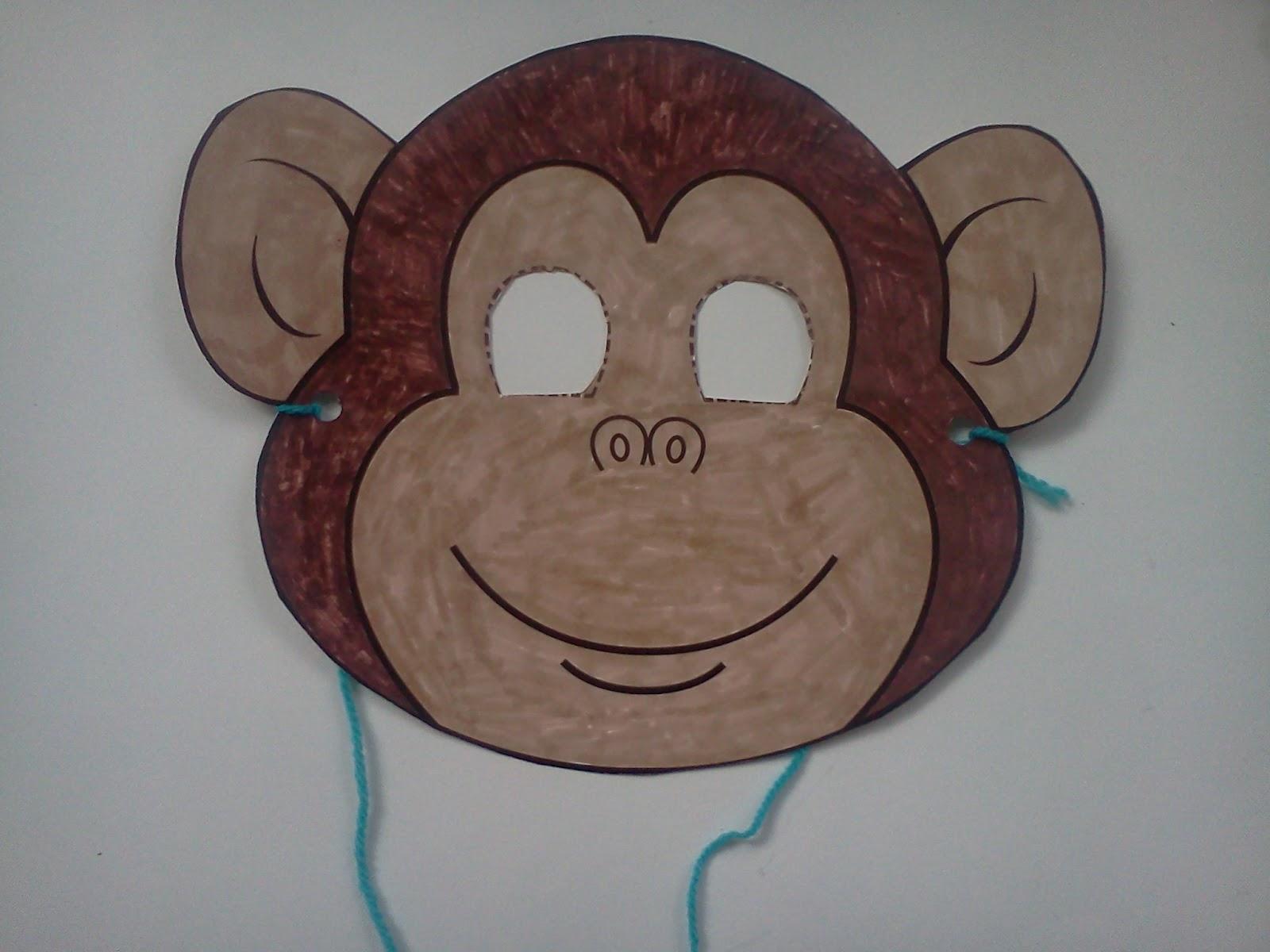 monkey mask craft for preschool crafting