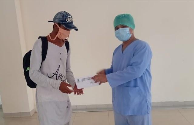 Dinyatakan Sembuh, Tiga Pasien Reaktif Hasil Rapid Tes, Dipulangkan