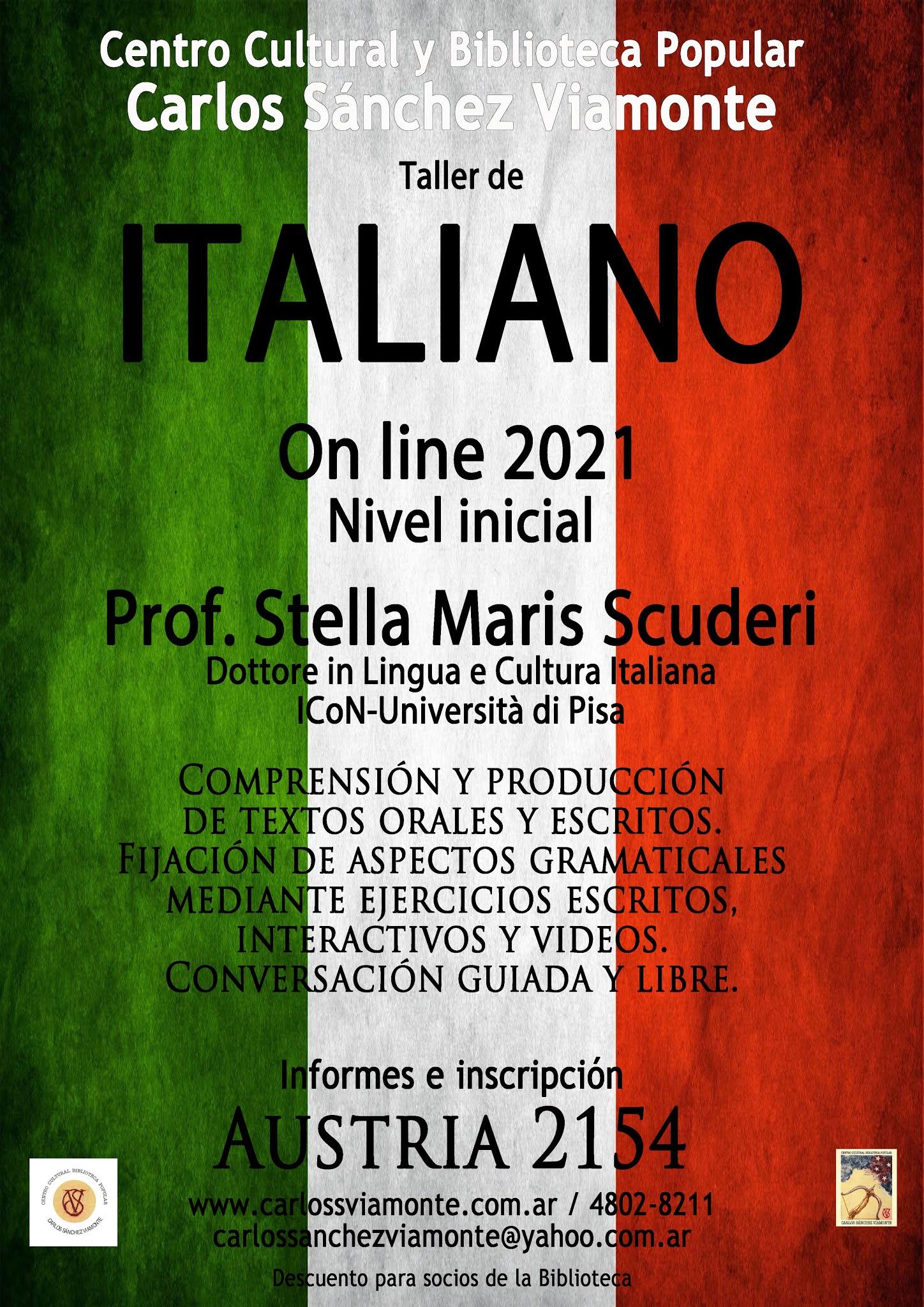 Taller de Italiano on line