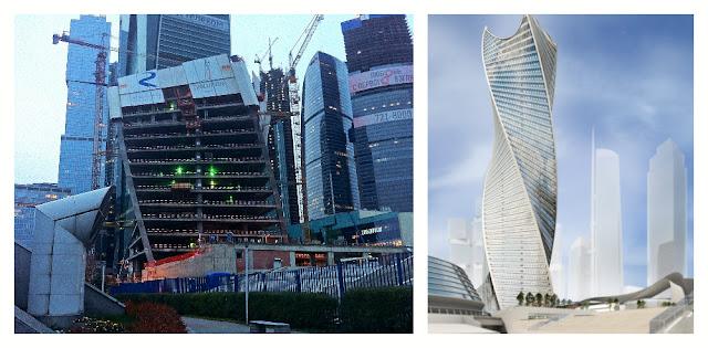 Строящаяся башня Эволюция, Москва-Сити