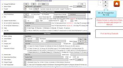 Form Input Data Aplikasi PPDB 2017