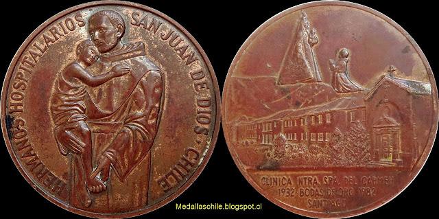 Medalla Clinica Nuestra Sra. del Carmen 1982