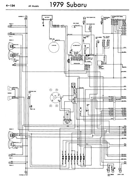 repair-manuals: Subaru 1979 Models Wiring Diagrams