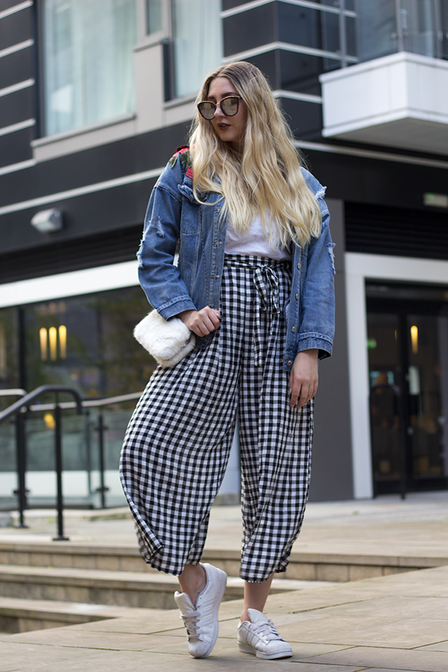 gingham trousers trend 2017