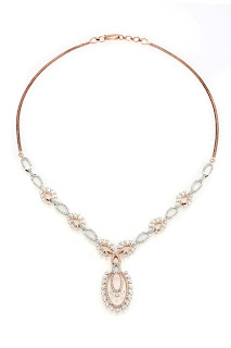 03 Entice Alina Collection_ All diamond necklace in rose gold