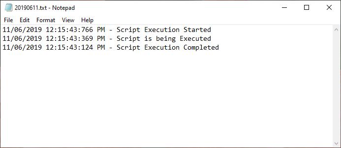 powershell generate log file