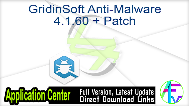 GridinSoft Anti-Malware 4.1.60 + Patch