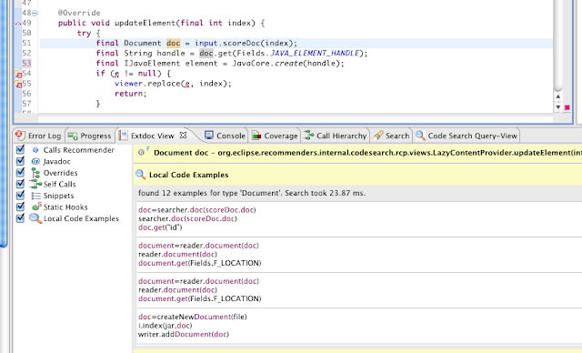 eclipse code recommenders update site in yahoo