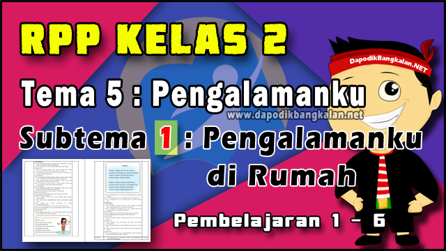 RPP Kelas 2 Tema 5 Subtema 1 Pb 1-6 Kurikulum 2013 Revisi 2019