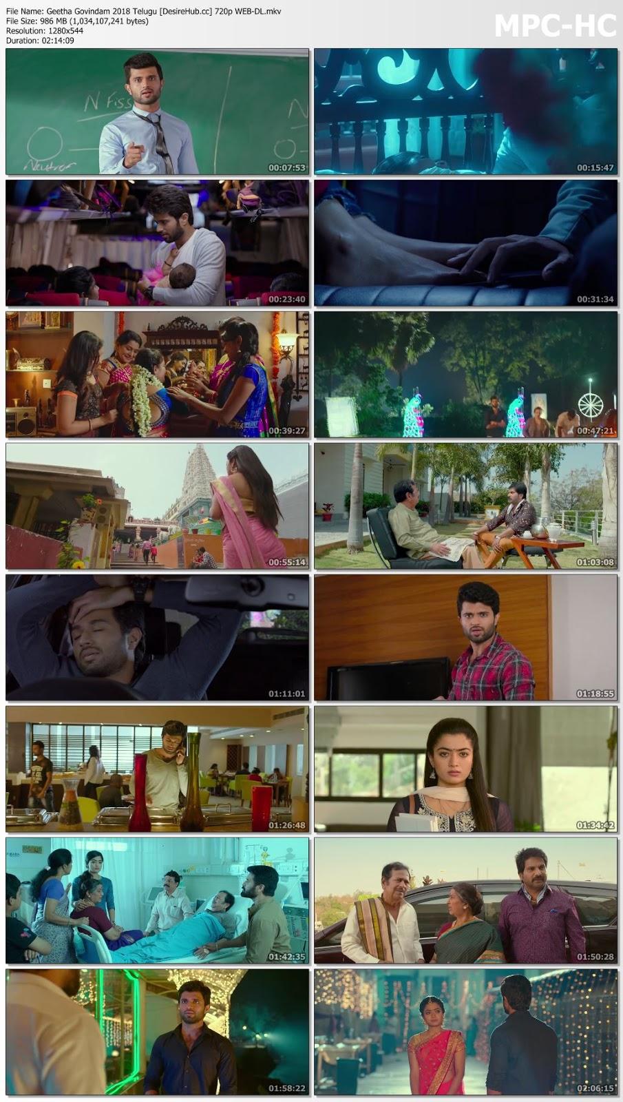 Geetha Govindam 2018 Telugu 480p WEB-DL ESubs 350MB Desirehub