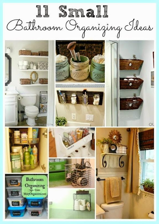 11 small bathroom organizing ideas.The home decor and designs with style.