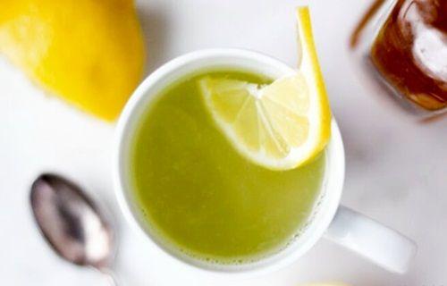 Jus diet pagi lemon campur teh hijau