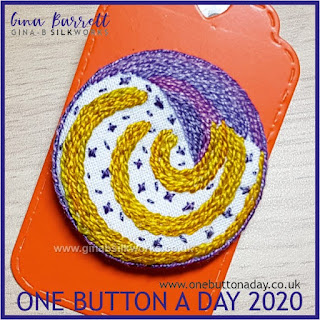 One Button a Day 2020 by Gina Barrett - Day 68: Celebrate