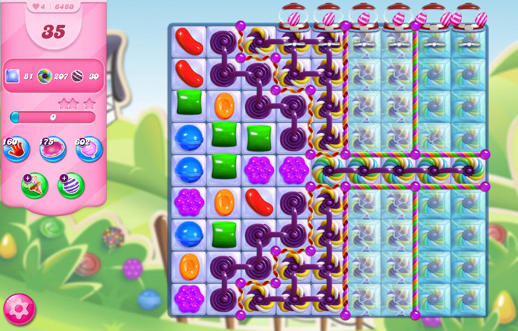 Candy Crush Saga level 6480