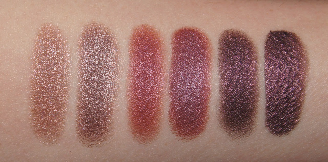 swatches nars himalia dual intensity eyeshadow kiko water eyeshadow 203 204 wet dry