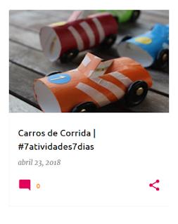 Como fazer carros de corrida com rolos de papel higiénico