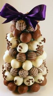 arvores de natal feita com chocolate
