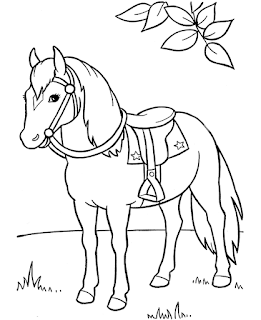 Images Of Baby Horse At Forest Coloring Sheet