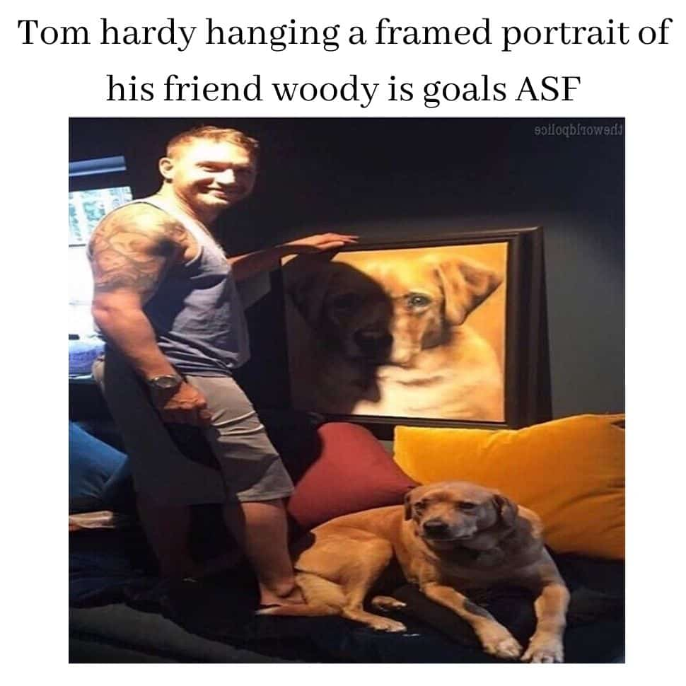 Tom-hardy-hanging-a-framed-portrait-of-his-friend-woody-is-goals-ASF-best-funniest-dark-memes