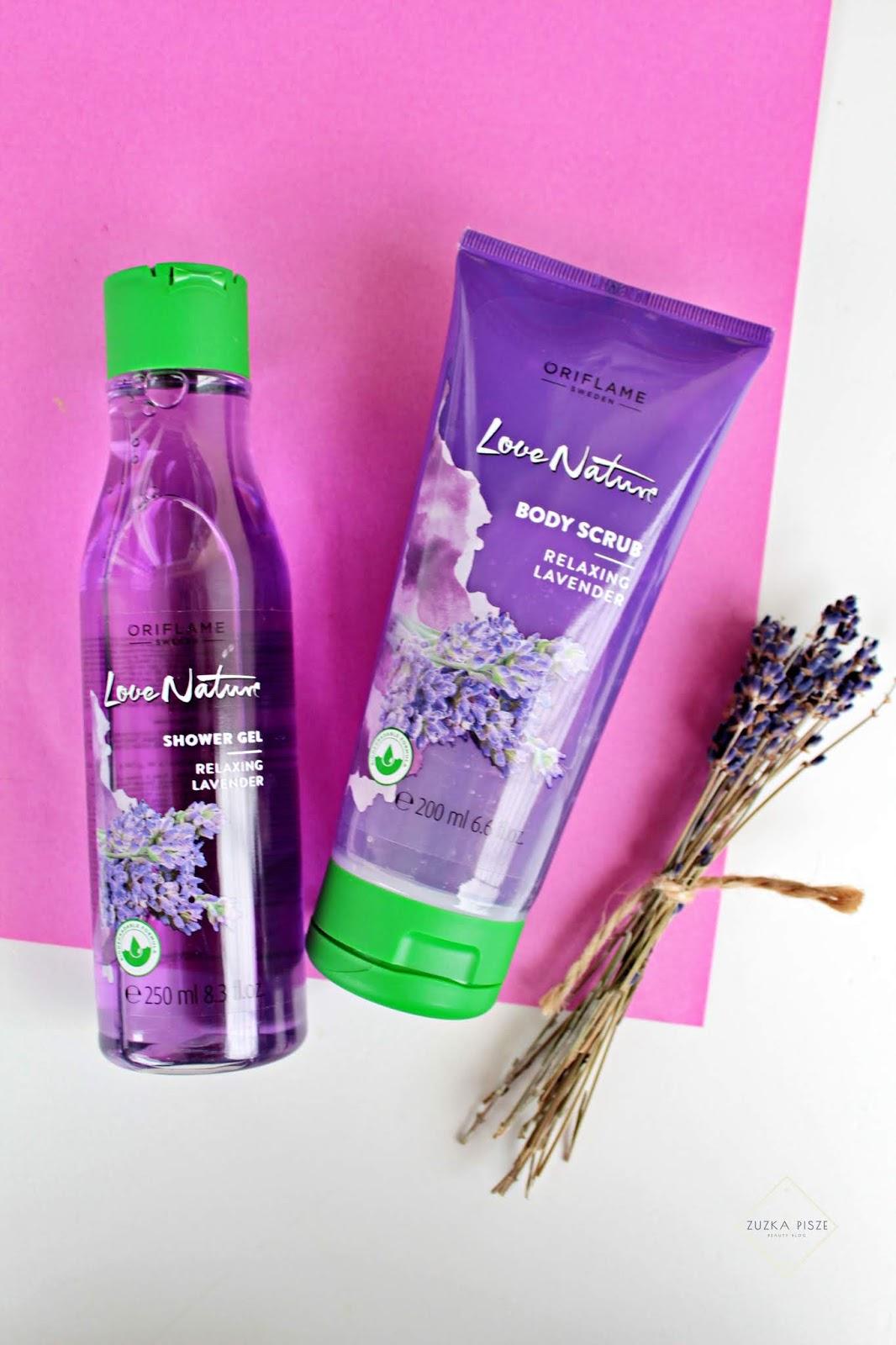 Relaksująca lawenda - ORIFLAME Love Nature Relaxing Lavender - żel i scrub do ciała