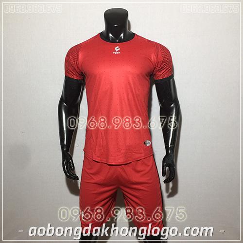 Áo bóng đá ko logo Egan Atec màu đỏ