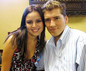 Foto de Angelo Fukuy con su ex amor