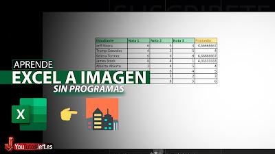 Como Convertir Excel en Imagen PNG o JPG