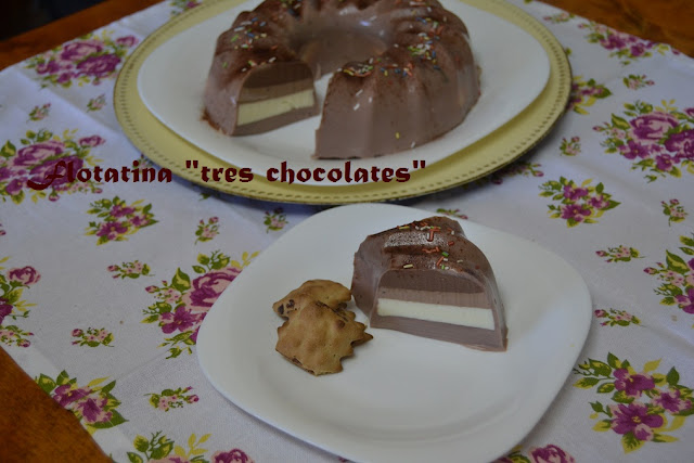 """TARTA FLOTATINA """"TRES CHOCOLATES"""""""