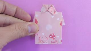 Hướng dẫn cách gấp xếp áo sơ mi bằng giấy đơn giản