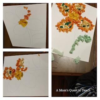 tissue paper, kids crafts