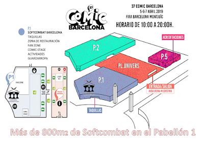 Actividades Softcombat Bcn en el 37 Cómic Barcelona.
