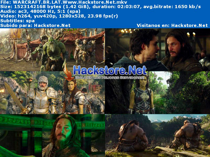 Capturas de Warcraft (2016) Blu-Ray RIP HD Latino