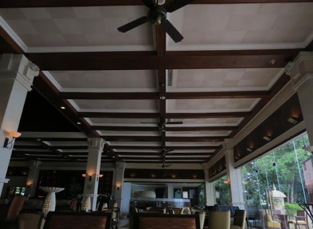 wooden panel ceiling