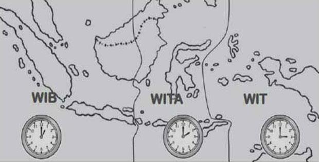 Sebab Perbedaan Waktu di Indonesia