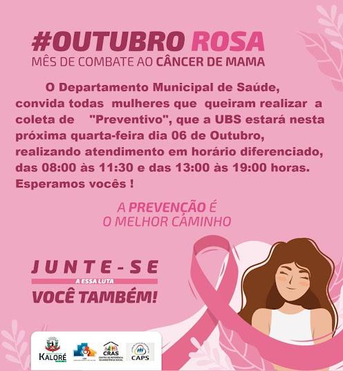 KALORÉ - Campanha Outubro Rosa