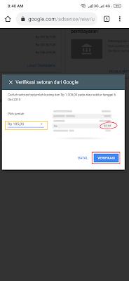 verifikasi pembayaran google adsense