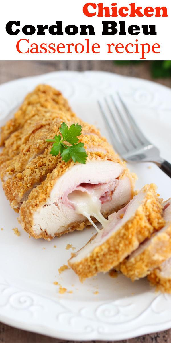 Chicken Cordon Bleu Casserole #Chicken #Cordon #Bleu #Casserole #ChickenCordonBleuCasserole