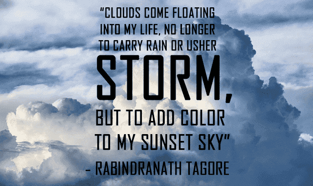Short quotes about sky and clouds