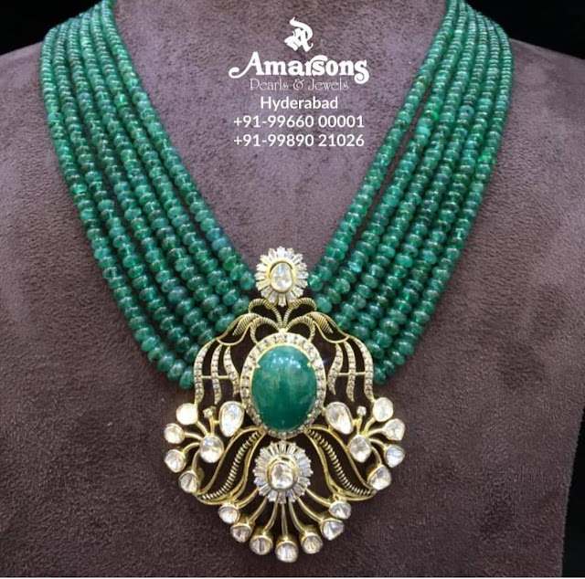 Ruby Emerald Gemstone Beads Jewellery