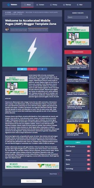 VLETTERS : A stylish modern AMP HTML Google Blogger Template