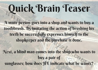 Quick Brain Riddle