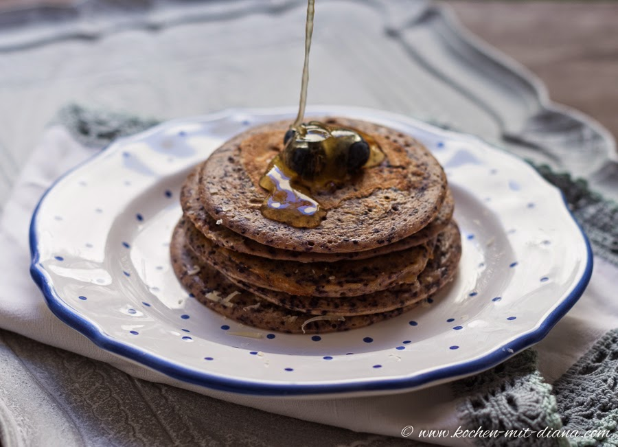 Ricotta-Blaubeeren Pancakes