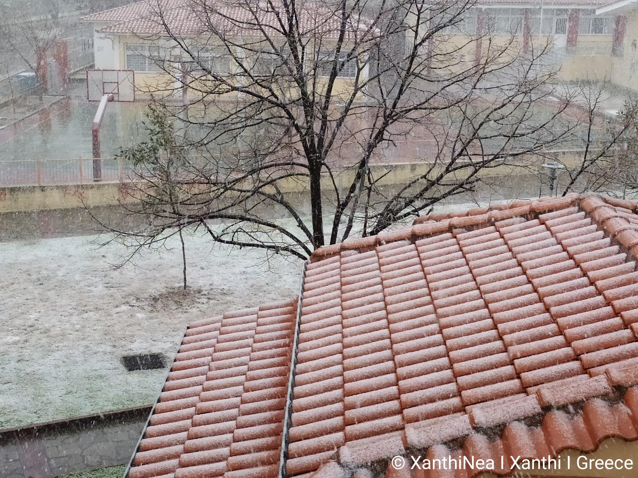 Ισχυρή χιονόπτωση στην Ξάνθη και αλλαγή του καιρού [ΒΙΝΤΕΟ]