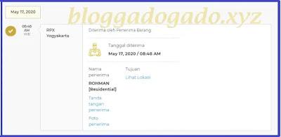 Rpx Yogyakarta - diterima oleh penerima barang