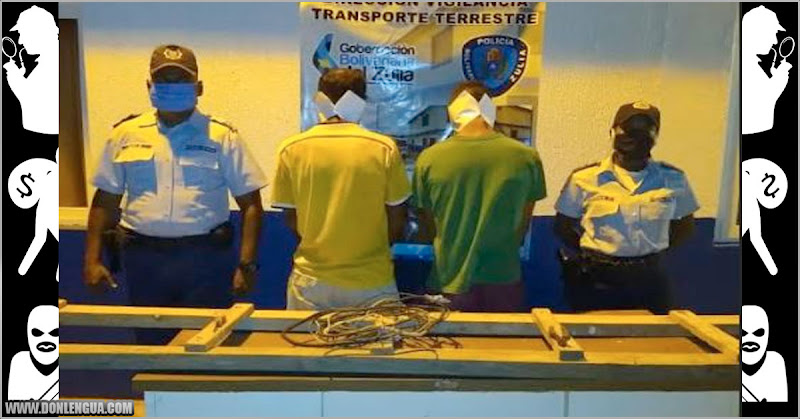 Dos sujetos detenidos por robarse una guaya de 2 metros en Maracaibo