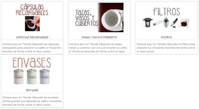 Comprar Accesorios: Tazas, filtros, teteras, cápsulas recargables.