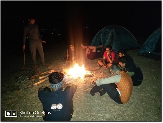 prabalgad trek, camping at prabalgad